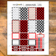 Buffalo Plaid Printable Stickers - Boxes sized for HP