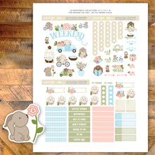Spring Bunny Printable Stickers - Deco Sheet