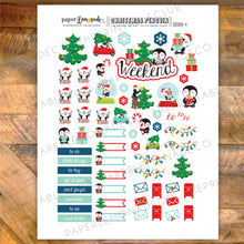 Christmas Penguin Printable Stickers - Deco Sheet