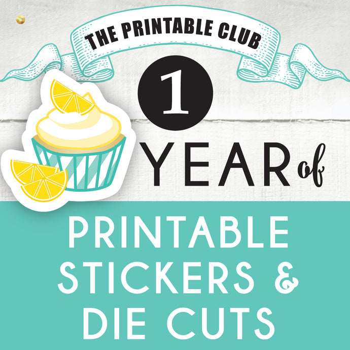 Cupcake Plan - The Printable Club