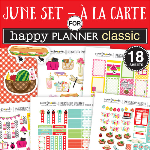 July Sticker Set for HAPPY PLANNER CLASSIC - A la Carte