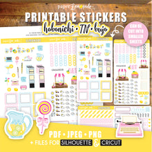 Hobonichi Lemonade Printable Stickers lemon cupcake stickers weekly kit