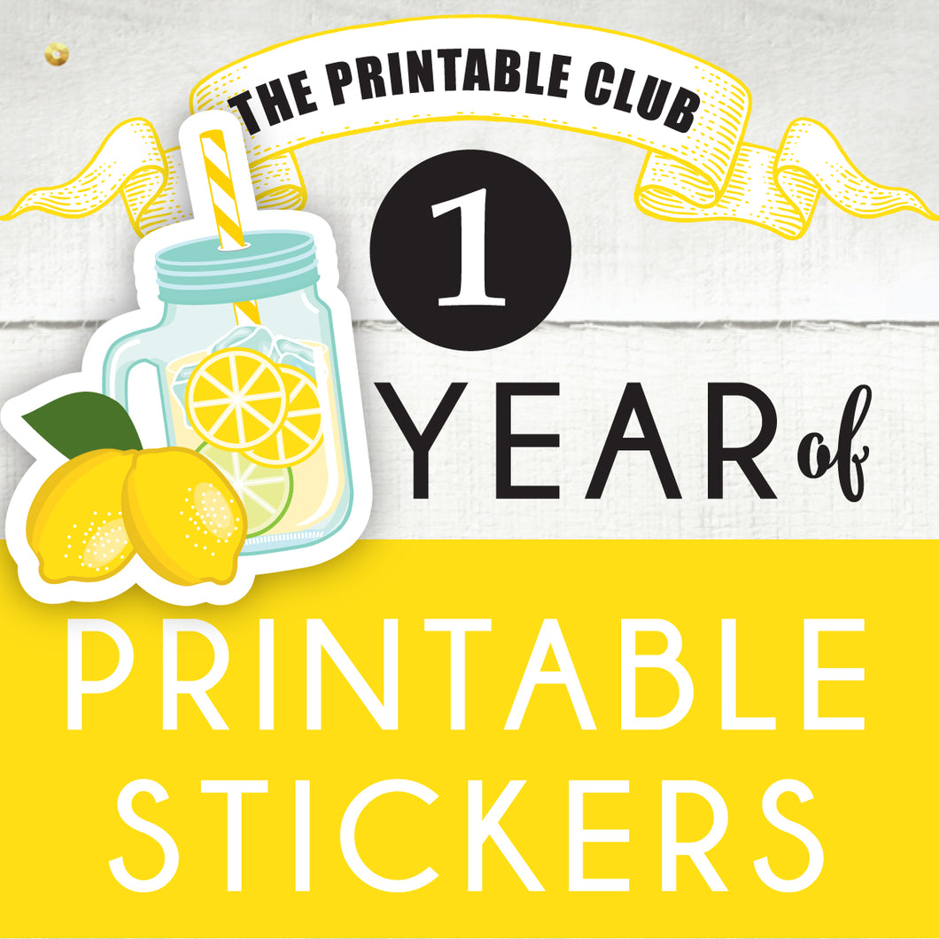 Lemonade Plan - The Printable Club
