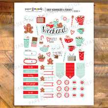 Mint and Chocolate Printable Stickers - Deco Sheet