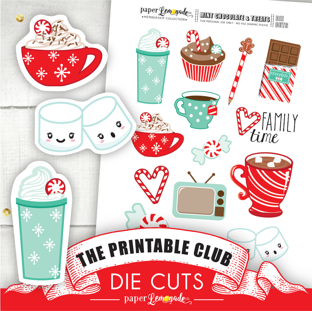 Printable Chocolate and Mint Treats Die Cuts 1
