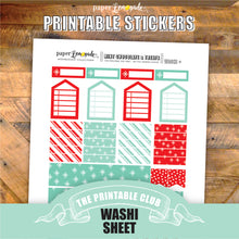 Mint and Chocolate Printable Stickers - Washi Page and more