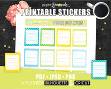 Polka Dot Notes Printable Stickers in Cool Colours - Erin Condren Size