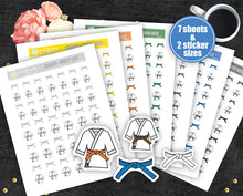 Karate Judo Printable Stickers - Gi and Belt