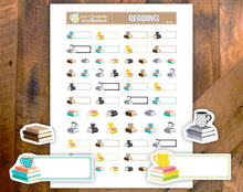 Printable Stickers Book Reading