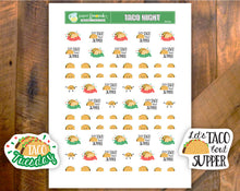 Printable Taco Night Stickers