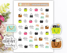 Printable Handbag Stickers