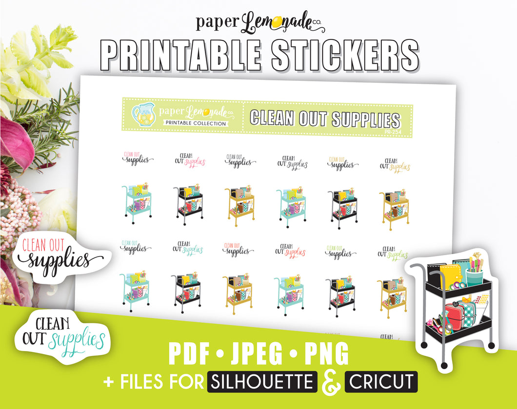 Clean Out Supplies Printable Stickers