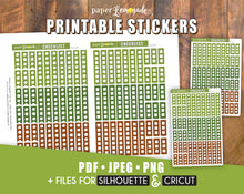 Checklist Printable Stickers Forest Colours for Happy Planner Classic PR-263