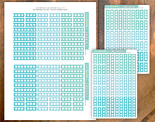 Checklist Printable Stickers Blue Sky Colours for Happy Planner Classic PR-264