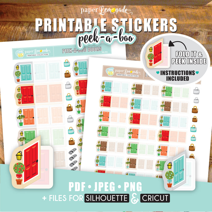 Printable Peek-A-Boo Door Stickers