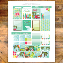 Surfing Printable Stickers Weekly Kit - EC Sheet
