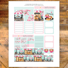 French café and Blooms Printable Stickers - EC Sheet - cupcake and coffee