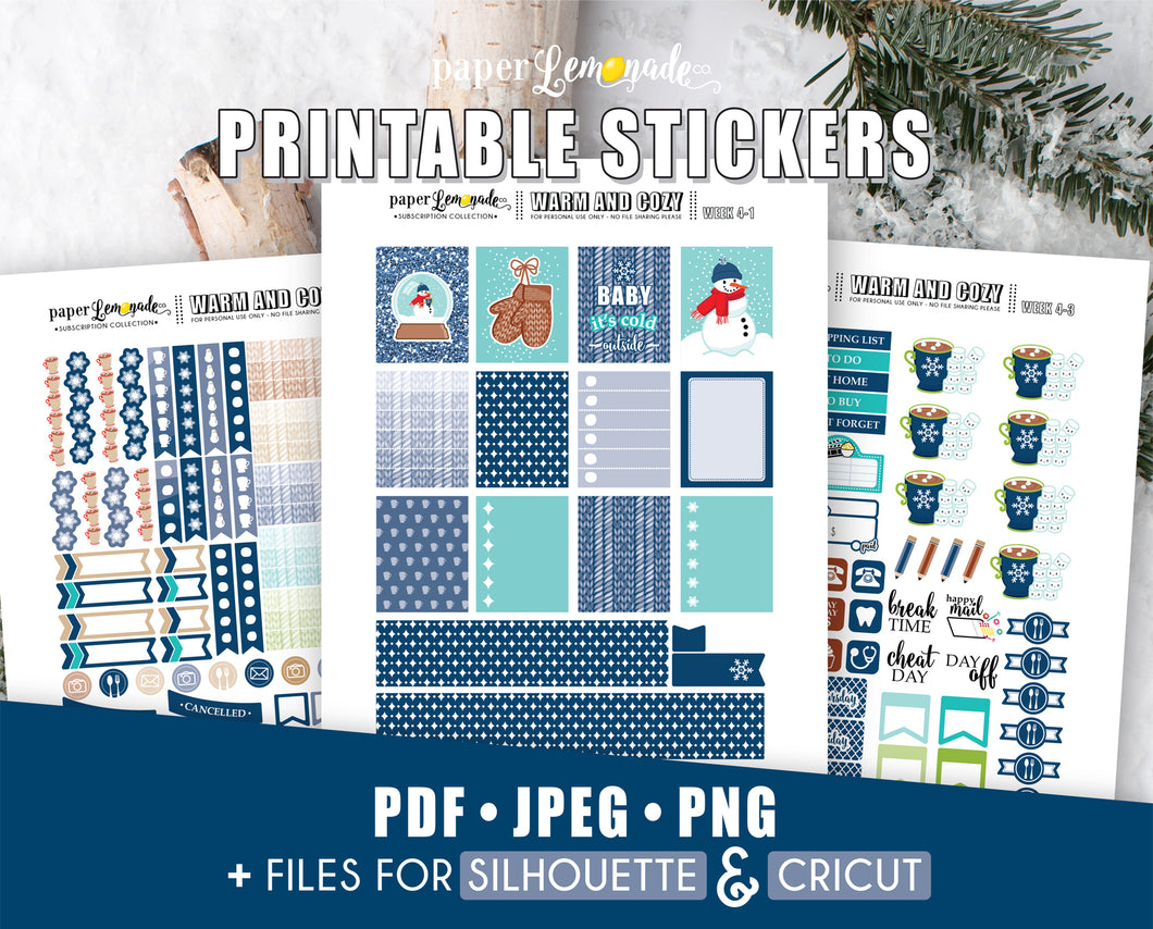 Winter Printable Stickers January Week 4