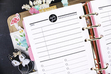 Daily Planner printable Insert Personal size today's plan