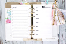 Printable Planner Insert Meal planning with shopping list personal size