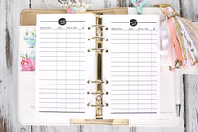 Medication tracker printable planner insert medicine chart personal size