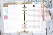 Monthly checklist printable Planner Insert personal size task tracker