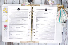 Wine notes Printable Planner Insert Wine tasting A5 A4 Letter and Half Letter