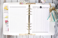Checkbook Register Printable Planner Insert A5 A4 Letter and Half Letter