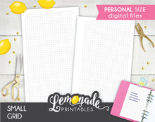 Small Grid printable personal size Planner Insert 1/8 inch grid