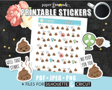 Poop Printable Stickers poop stickers no poop for you constipation tracker hooray for poop