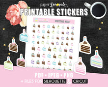 Birthday cake Printable Stickers Birthday Cake Printable PR-016