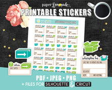 Subscription box Printable Stickers Sub box tracker