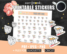 Printable Stickers Take Out Box Stickers Chinese Take Out printable stickers PR-033