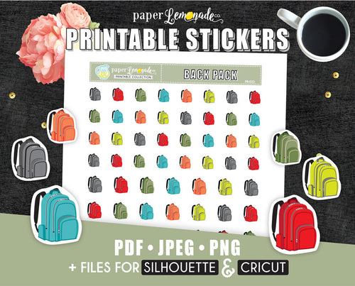 Printable Sticker Backpack sticker PR-022