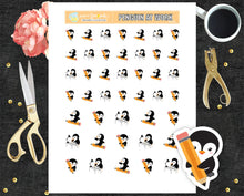 Working penguin Printable Stickers