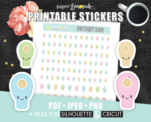 Printable Stickers Ostomy Bag Sticker Urostomy bag