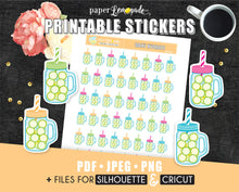 Printable Stickers daily hydrate sticker PR-063
