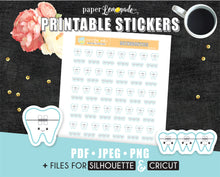 Orthodontics Printable Stickers braces stickers