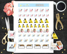 Printable planner stickers School Stickers PR 335