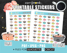 Slow cooker Printable Stickers