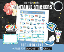 Pool maintenance Printable Stickers