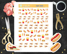 Fast food Printable Stickers