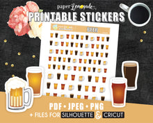 Beer Printable Stickers pitcher sticker beer lover PR-056