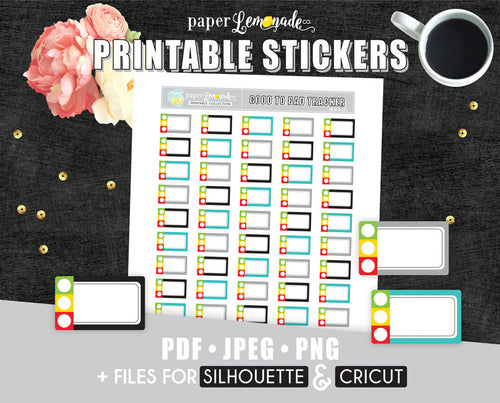 Good medium bad Printable Stickers Mood or Health tracker