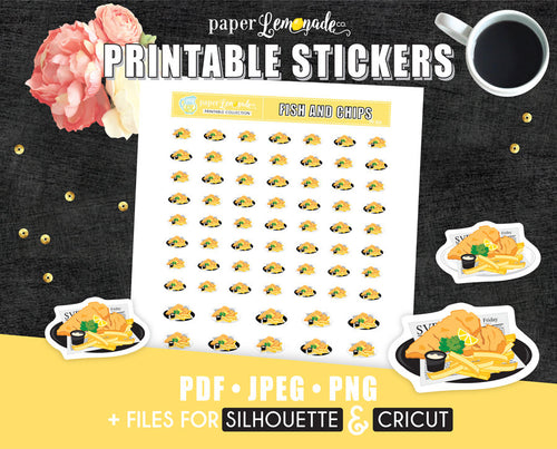 Fish and chips Printable Sticker