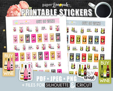 Printable Stickers Wine Stickers Party Planning stickers PR-040