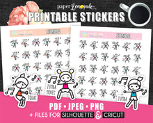 Zumba Printable Stickers Fitness