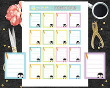 Penguin notes Printable Stickers