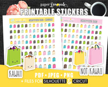 Shopping bag Printable Stickers Shopping trip