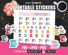 Baking Printable Stickers Colourful Mixer Stickers PR-090